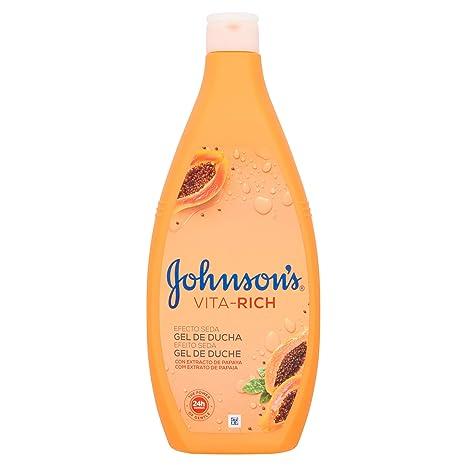Johnson & Johnson - Gel de ducha Vita-Rich Efecto Seda, con Extracto de