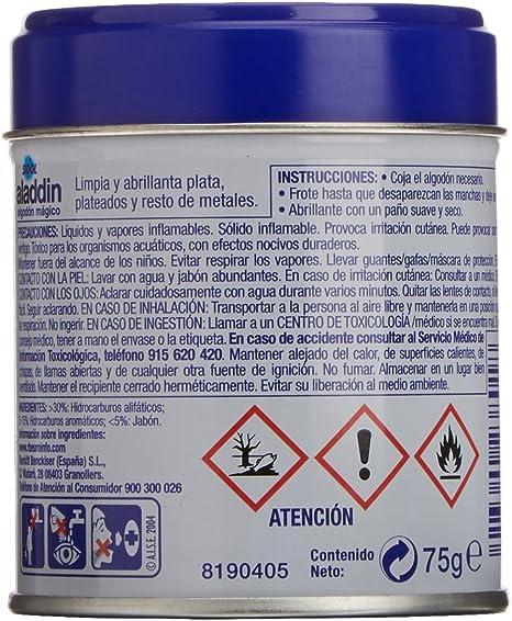 Aladdin - Limpiador Metales y Plata, Algodón Mágico Metales, 75 gr: Amazon.es: Salud y cuidado personal