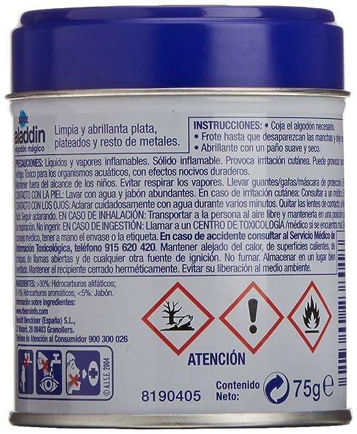 Aladdin - Algodón Limpia Metales - [pack de 1]: Amazon.es: Alimentación y bebidas