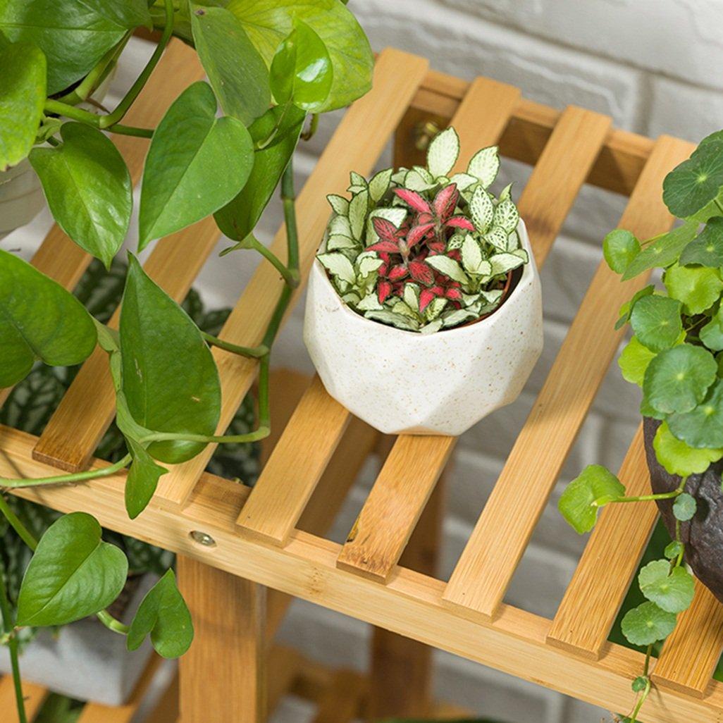 Étagère dans le salon Chambre Cuisine 4 Tiers Bambou Fleur ...
