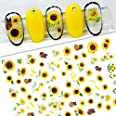 2021 Sunflower 3D Stickers for Nails Peel Off Nail Sticker Butterfly Decals Summer Nail Art Decorations Manicure Accessories