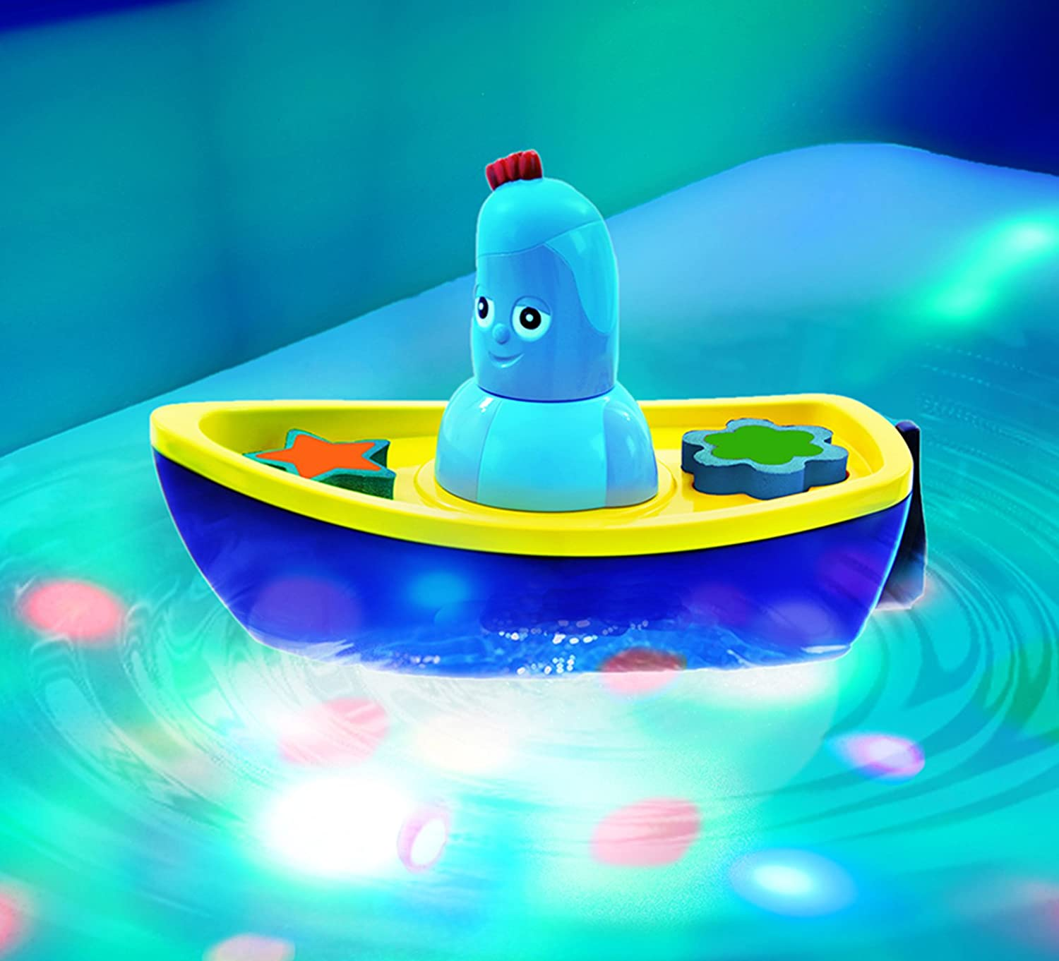 In the Night Garden NEW Iggle Piggle's Lightshow Bath-Time Boat Toy Golden Bear Products Ltd 1669