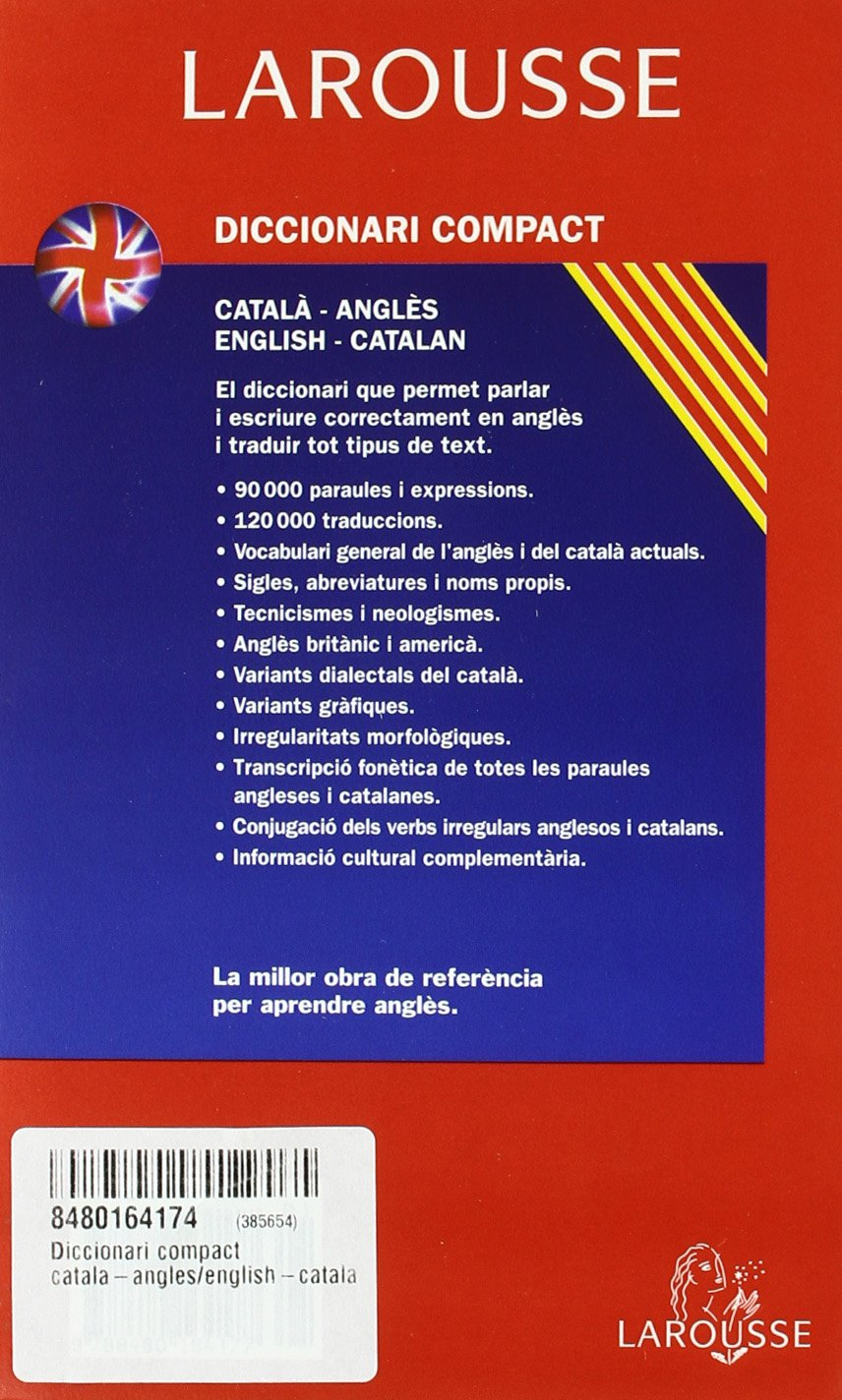 Larousse Diccionari Compact Catala Angles - English Catalan/ Larousse  Compact Catalan - English Dictionary (Catalan and English Edition): Laura  Estevez del ...