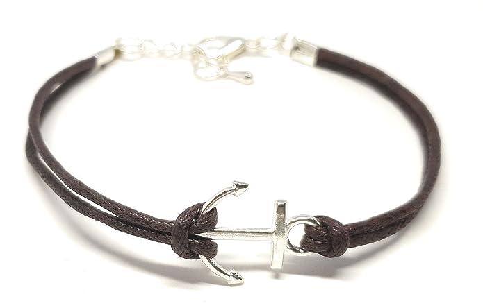 Anker-Armband (braun/silber)