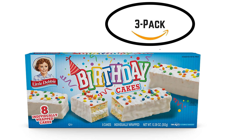 Little Debbie Birthday Cakes (3 boxes)