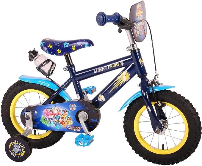 Bicicleta Infantil Niño Chico 12 Pulgadas Paw Patrol Mighty Pups Freno Delantero al Manillar y Trasero Contropedal Ruedas Extraibles 85% Montada: Amazon.es: Deportes ...