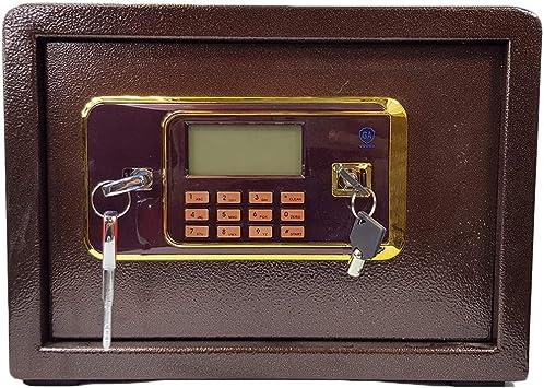 Caja de seguridad electrónica con 2 llaves y 2 pernos de montaje ...