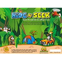 METRO TOY'S & GIFT Hide & Seek Jungle- 48 Challenges- an Award Winning Brain Teasing Puzzle Game for Kids Age 5 Years & Above.