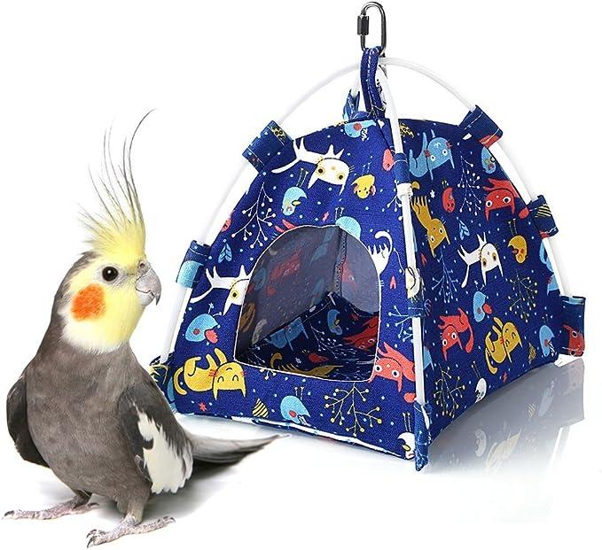 Keersi - Tienda de campaña Colgante para pájaros, para periquitos, periquitos, cacatúas, Canarios, pájaros, Perchas, pequeños y medianos: Amazon.es: Productos para mascotas