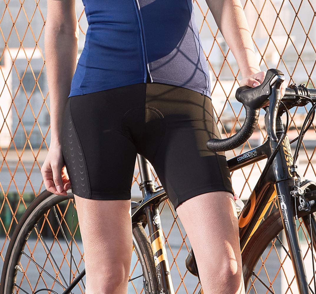 Santic Womens Cycling Shorts 4D Padded Underwear Quick-dry Breathable MTB Sports Gym Cycle Shorts Black