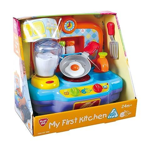 PlayGo 2586 - Cocina de juguete mini (funciona con pilas)