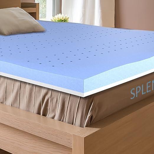 Protector de Colchon de Espuma de Memoria 3Inch Queen Cubre colchón con lavanda