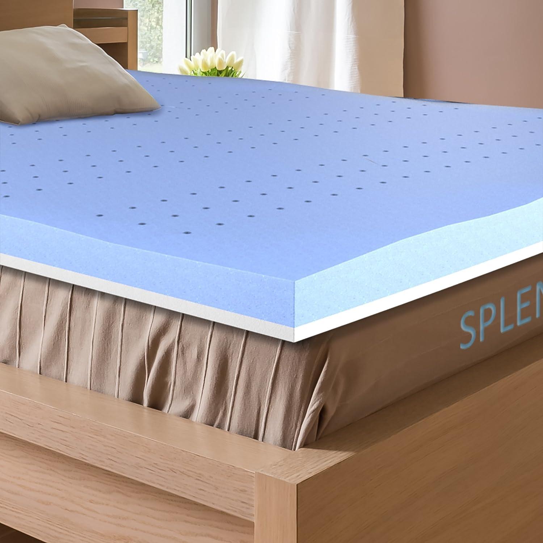 firm mattress topper queen Amazon.com: Splendoress 3 Inch Mattress Topper Queen Size  firm mattress topper queen