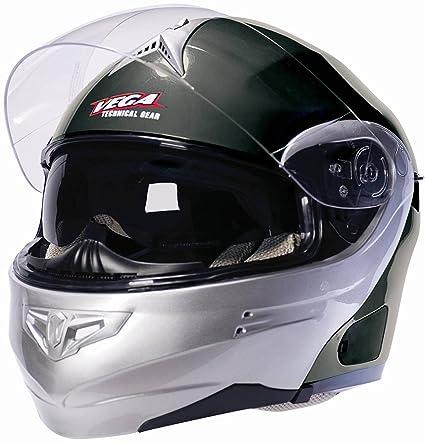 Vega Summit 3.1 Full Face Modular Helmet (Grey Metallic, Large)