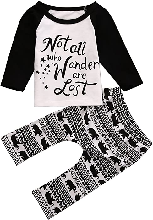 756551f01488 Newborn Baby Kids Boys Star Elephant Letter Print Tops+Pants Spring Fall  Outfits - -: Amazon.co.uk: Clothing