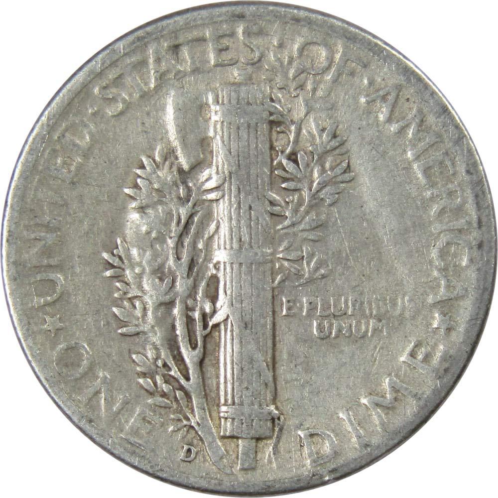 VERY GOOD 90/% SILVER COIN CIRCULATED GRADE GOOD 1928-D MERCURY DIME