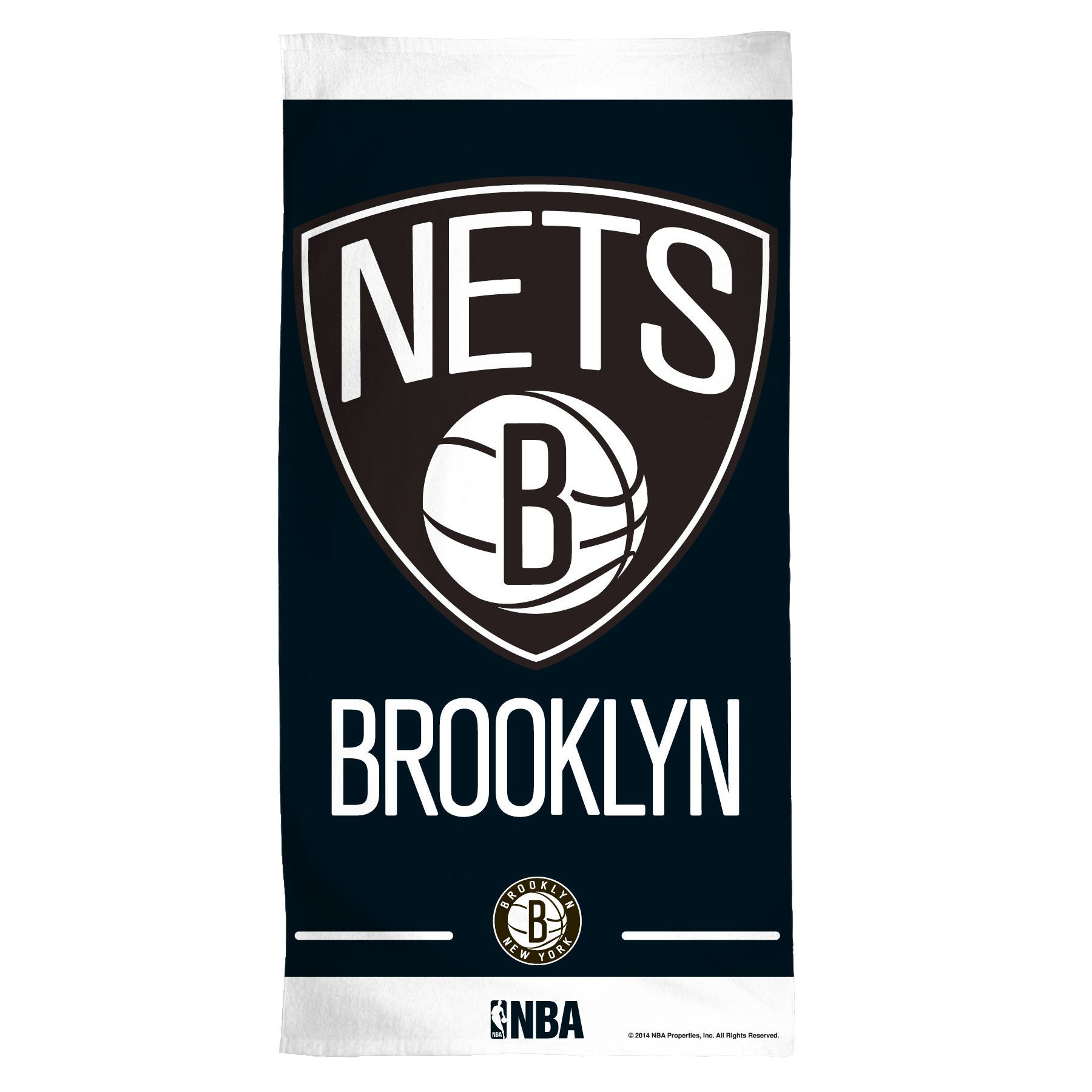 NBA Brooklyn Nets Fiber Beach Towel, 30 x 60'', Multicolor