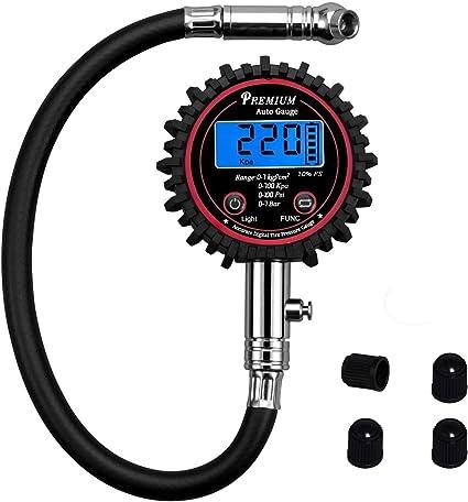 Medidor de Presión de Neumáticos Digital, Manometro Presion ...