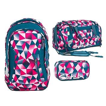 d68ac45580445 Satch Sleek - 3tlg. Set Schulrucksack - Pink Crush  Amazon.de ...