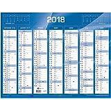 QUO VADIS - Calendrier de Banque Bleu - Janv. à Déc. 2018 - Format: 27 x 21 cm
