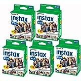 Fujifilm Instax – Set da 5 scatole da 20 pellicole per 100 foto in formato panoramico per Fuji Instax 210