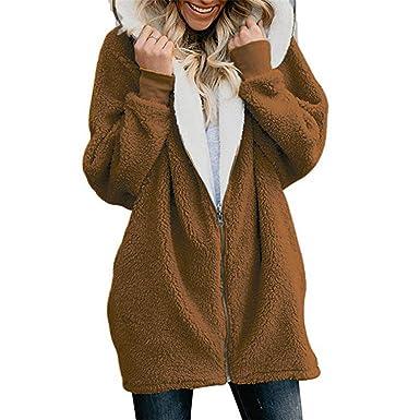 0f42fa4e030 Women's Jackets Winter Coat Women Cardigans Ladies Warm Jumper Fleece Faux  Fur Coat Plus Size 5XL