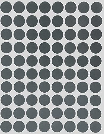 """2-1//2/"""" Silver Round Color Code Inventory Label Dots Stickers"""