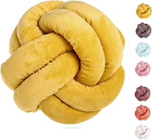 AOFITEE Plush Knot Throw Pillow Ball with Pillow Core, Creative Pillow Car Sofa Lumbar Cushion Toy, Home Office Children Room Decoration