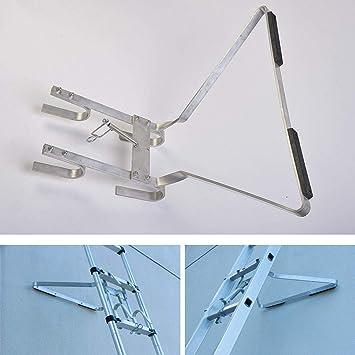 Soporte universal para escalera de fabricación, accesorio de escalera, ayuda a detener el deslizamiento de la escalera de un lado a otro: Amazon.es: Bricolaje y herramientas