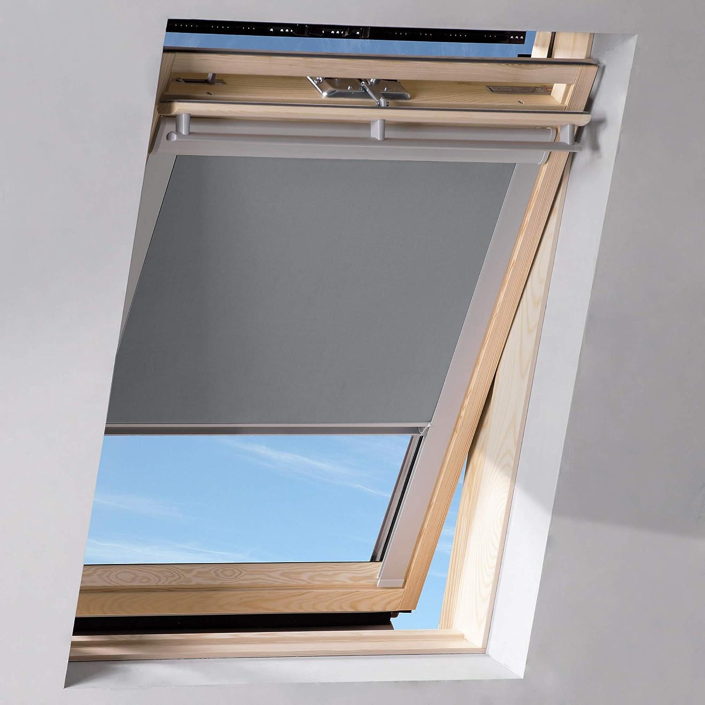 Sol Royal SolReflect D12 Dachfenster Rollo Verdunkelung & Thermo Hitzeschutz für 50x97 cm 206 Hellgrau
