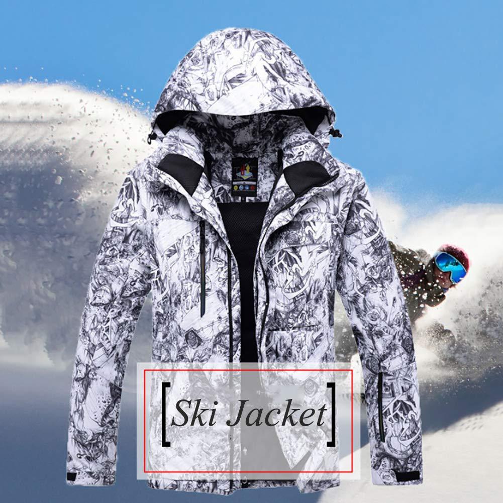 Amazon.com: Traje de esquí para hombre, resistente al viento ...