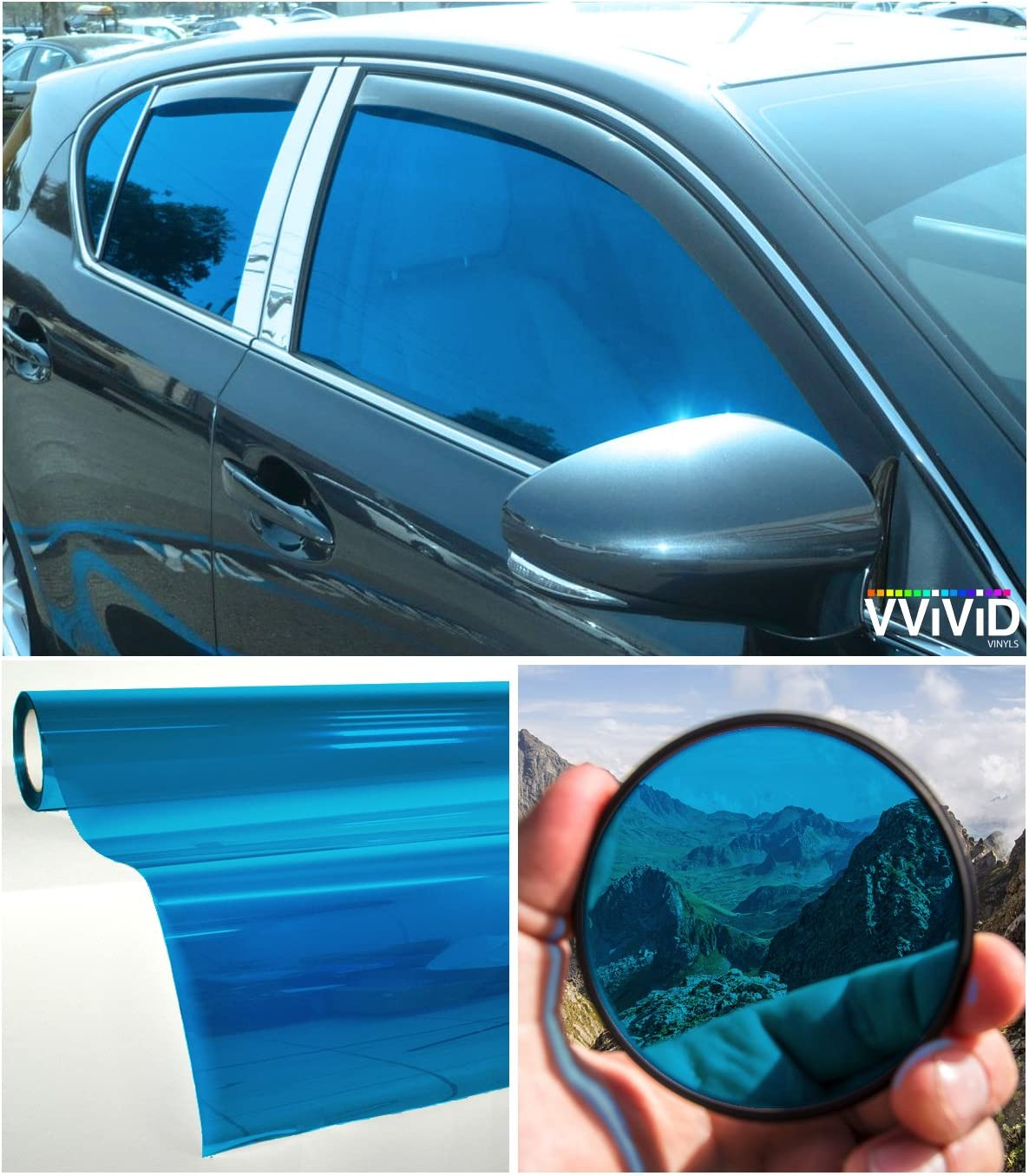 VViViD Colorful Transparent Vinyl Car Window Tinting}