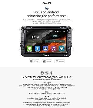 Eonon ga6153 F Android 5.1 coche DVD GPS para Volkswagen ...