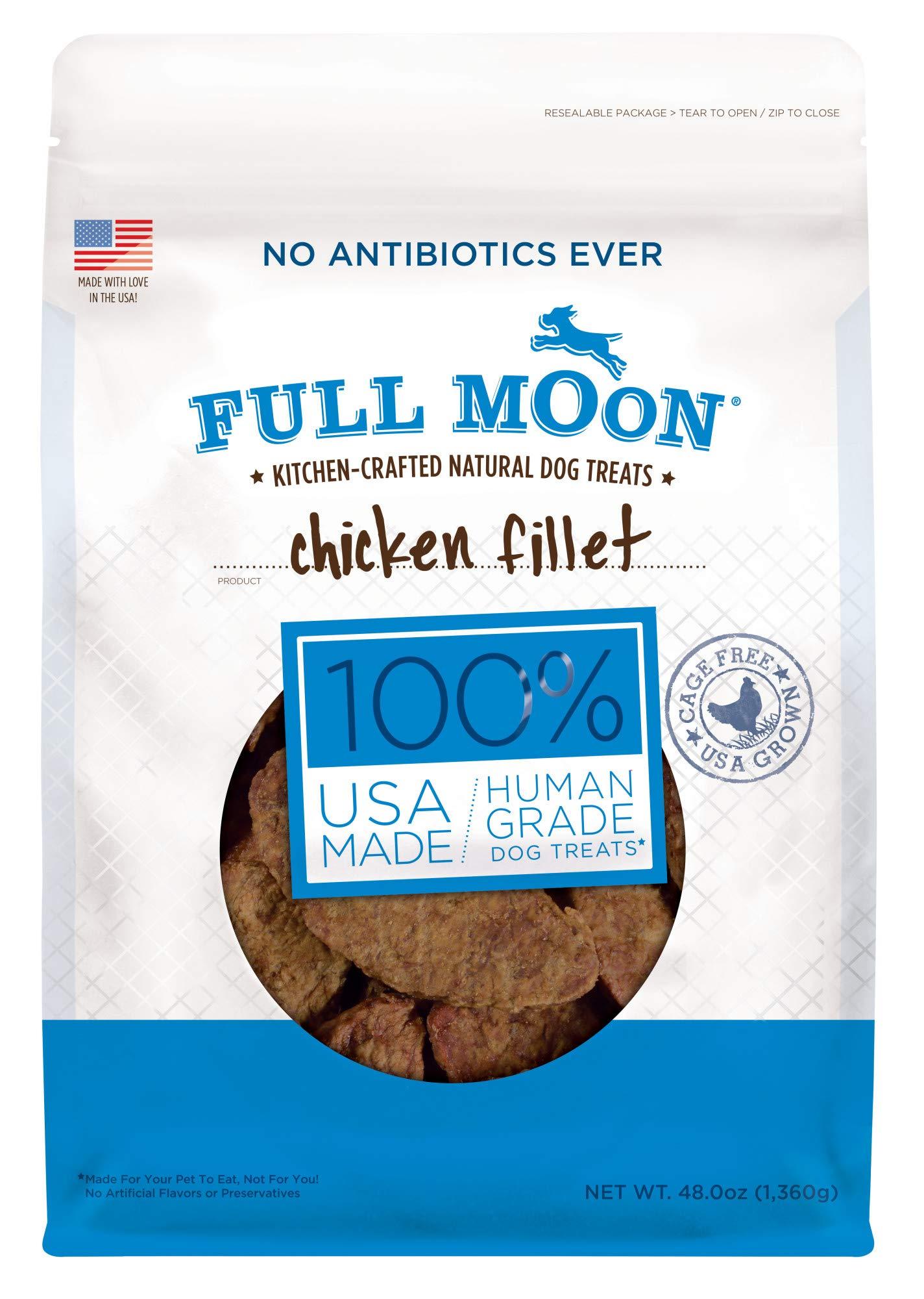 Full Moon All Natural Human Grade Dog Treats, Chicken Fillet, 3 Lb. by Full Moon