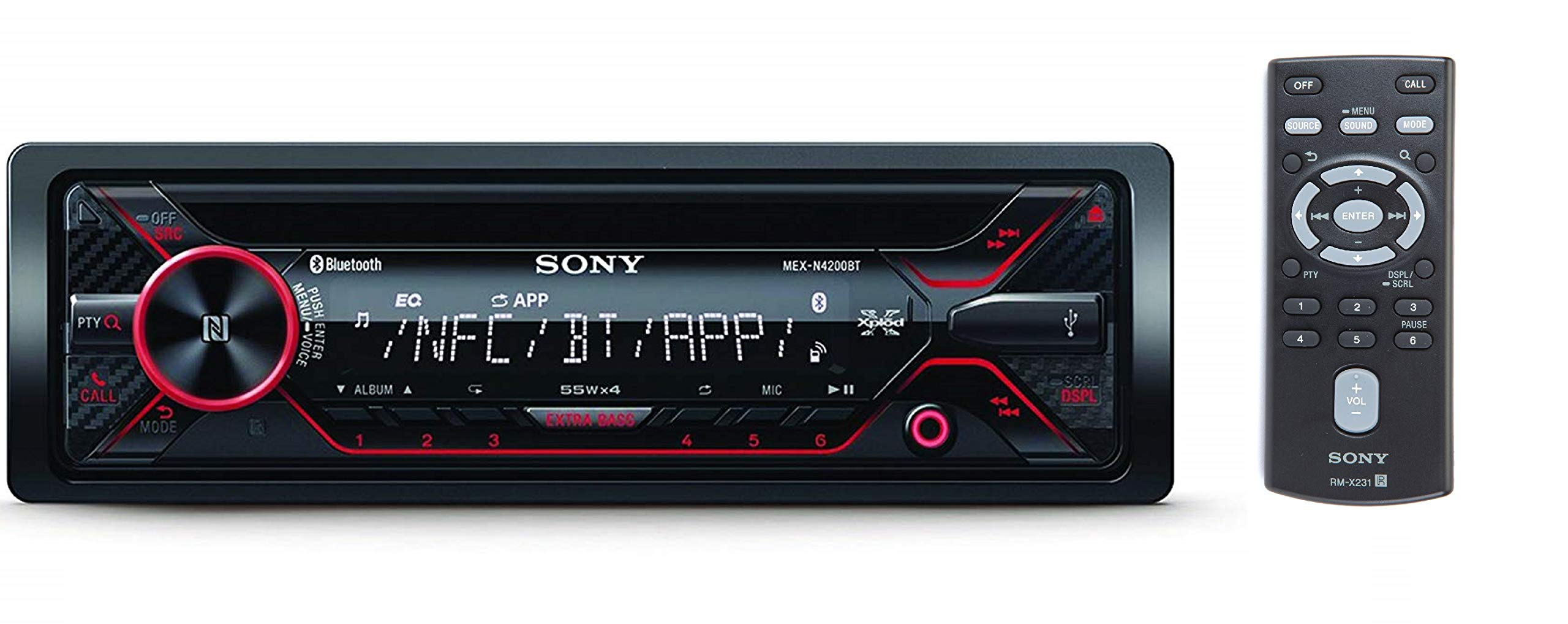 Sony MEXN5000BT CD Car Stereo Receiver with Bluetooth Discontinued by Manufacturer NFC Pairing /& App Remote SmartPhone Control