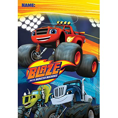 Blaze and the Monster Machines Folded Loot Bags: Toys & Games