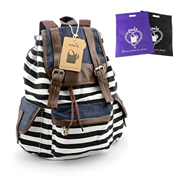 Amazon.com: DAKIA Cute & Pretty Girls Canvas Backpack for School ...