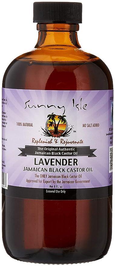 SUNNY Man lavanda Jamaica negro Castor Oil, 8 oz