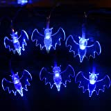 Amazon Price History for:Halloween String Lights, YUNLIGHTS 11.4ft 30 Blue Bats Lights Halloween Decoration Lights, Battery Powered