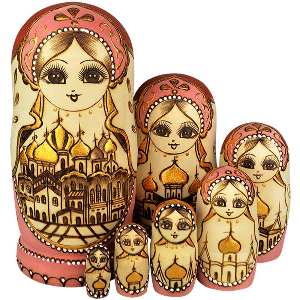 YAKELUS Marchio di Matrioska specializzato, nesting dolls Matrioske Bambola Matrioska russa in 7 pezzi, tiglio di zona frigida, regalo e giocattolo 0707
