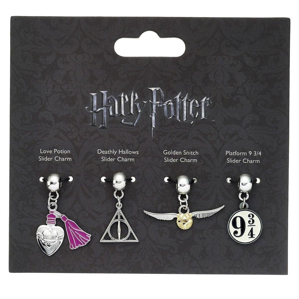 Pendentif slider charm Harry Potter 4 pièces bijou HP0070