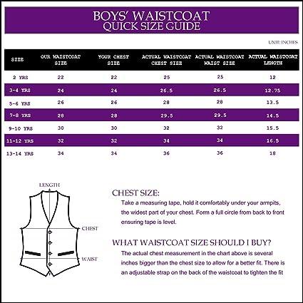 DQT Greek Key Patterned Cadbury Purple Boys Wedding Waistcoat /& Cravat