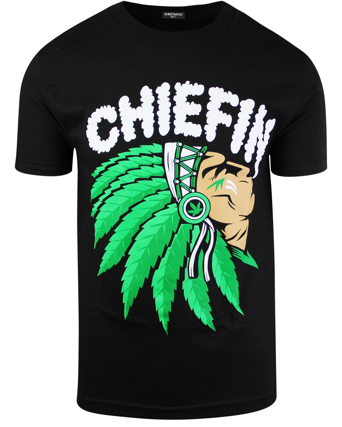 ShirtBANC Chiefn Smoke Mens Weed Shirt Native American Tee