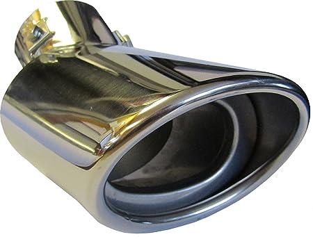 Motorsportandaccessories© - Punta de escape ova (cromada, punta de 178 mm de fácil ajuste, tornillo y clip de montaje, acero inoxidable, ...