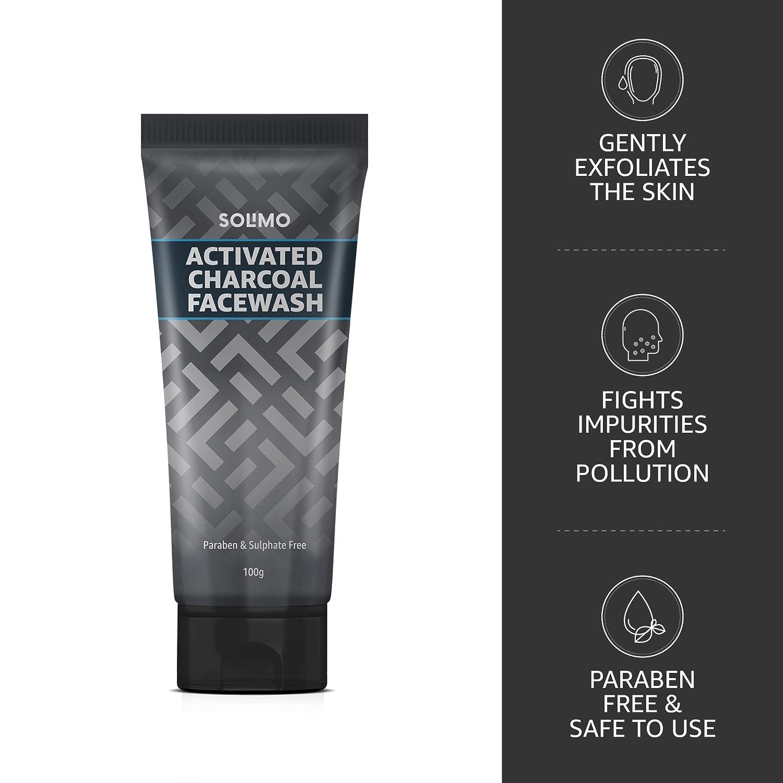 Amazon Brand - Solimo Charcoal Facewash with Scrub