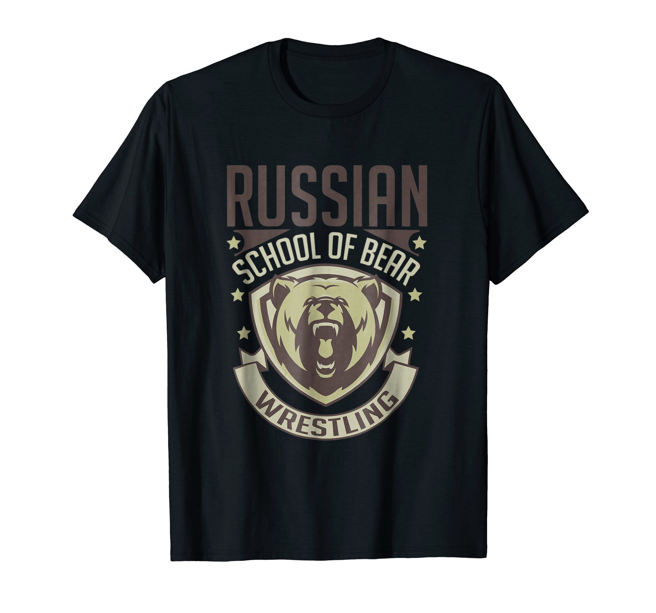 Russian Bear Wrestling Vintage Retro MMA T-Shirt by MMA Gi Tees