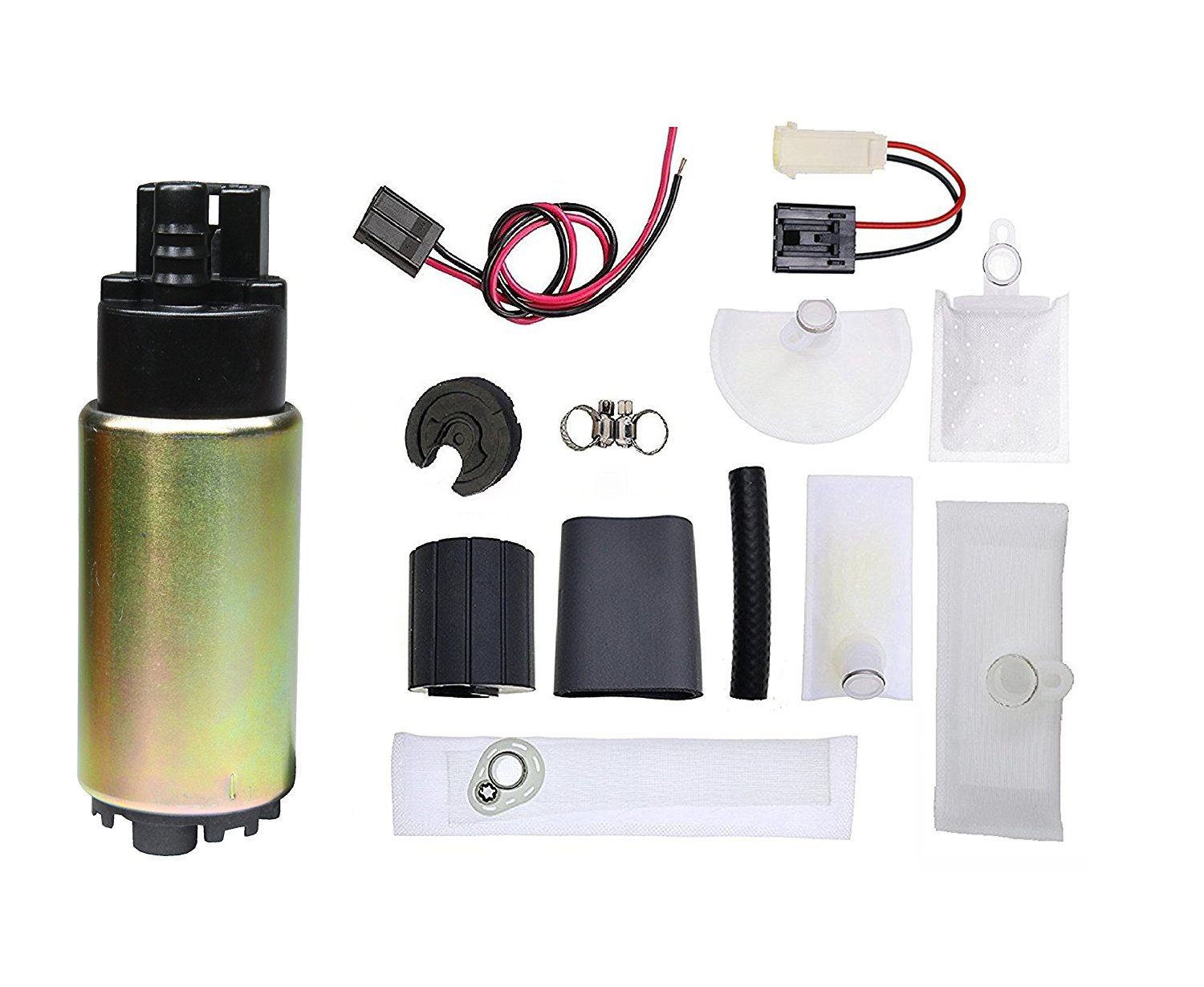 TOPSCOPE FP388336-12V Universal Electric Fuel Pump Installation Kit with strainer