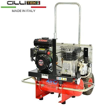 motocompressore 3 HP 10 Lt Motor Kama KB 30 Gasolina Compresor Aire Comprimido