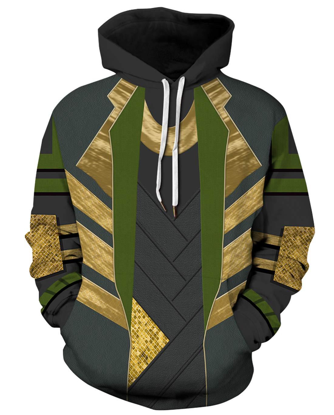 URVIP Unisex Realistic 3D Print Pullover Sweatshirt Hoodies with Big Pockets QYDM-455 S/M by URVIP