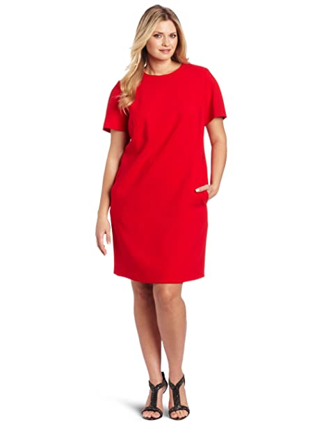 Jones New York Women\'s Plus Size Shift Dress, Scarlet Red ...